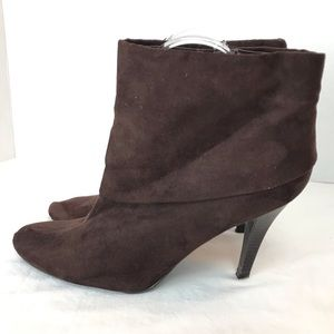 Marc Fisher Vallay 4 Brown Ankle Booties Sz 9
